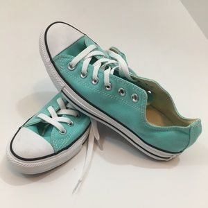 Teal Converse, size 8, NWT